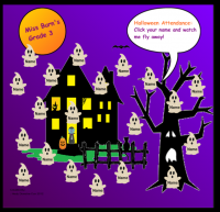 Halloween Animated Ghost Attendance