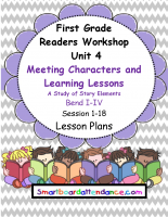 Readers Workshop Unit 4 Meeting Characters and Learning Lessons, Lesson Plan Bundle
