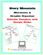 Story Mountain Mini Lesson and Graphic Organizer with Google Slides
